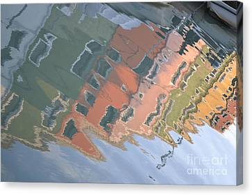 Canvas Print featuring the photograph Burano House Reflections by Rebecca Margraf