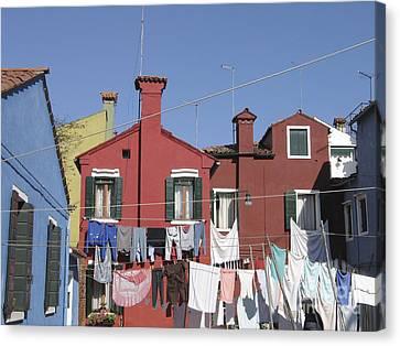 Burano. Venice Canvas Print by Bernard Jaubert