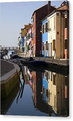 Canvas Print featuring the photograph Burano View  by Raffaella Lunelli