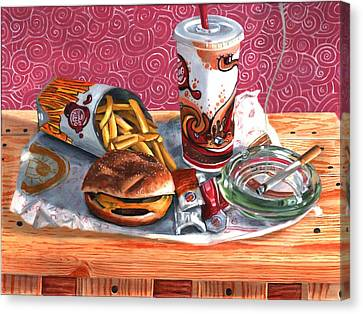 Burger King Value Meal No. 4 Canvas Print by Thomas Weeks