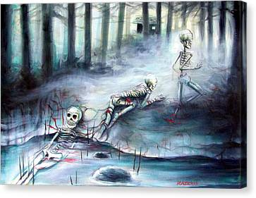 Buried In The Woods Canvas Print by Heather Calderon