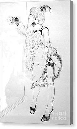 Burlesque Drawing Canvas Print