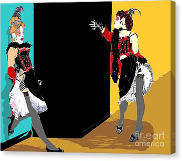 Burlesque Showgirls Canvas Print by Joanne Claxton
