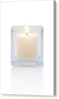 Healthy-lifestyle Canvas Print - Burning Candle Front View  by Atiketta Sangasaeng