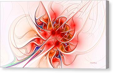 Burning Desire Canvas Print by Deborah Benoit