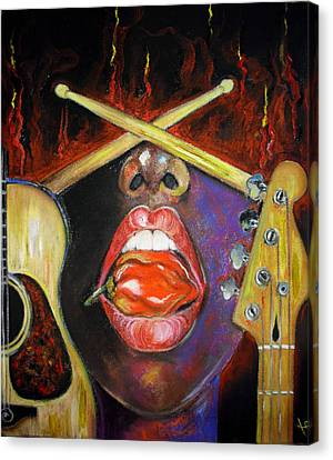 Burning Gums Canvas Print by Yxia Olivares
