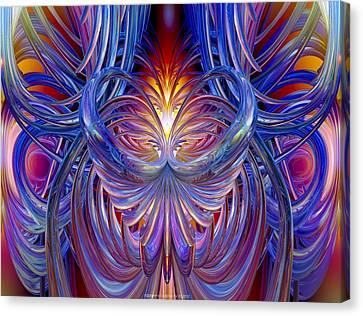 Burning Heart Of Desire Fx  Canvas Print by G Adam Orosco