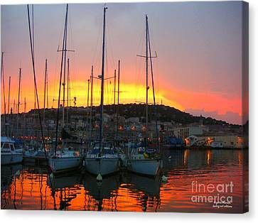 Burning Sky Canvas Print by Rogerio Mariani