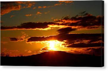 Burning Sky Sunset Canvas Print by Brian Bielert
