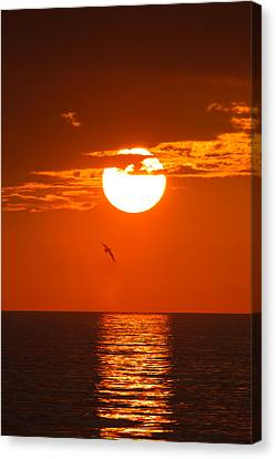Burning Sunset Canvas Print by Andres Leon