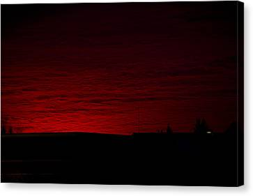 Burning Sunset Canvas Print by Julie Smith