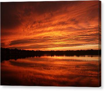 Burning Water Canvas Print