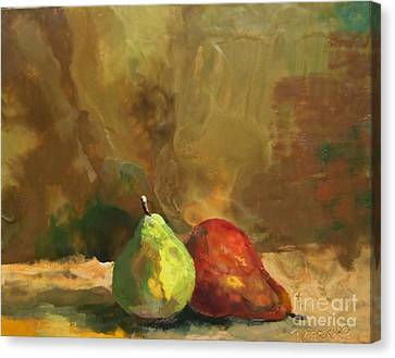 Burnished Pears Canvas Print by Ruth Stromswold