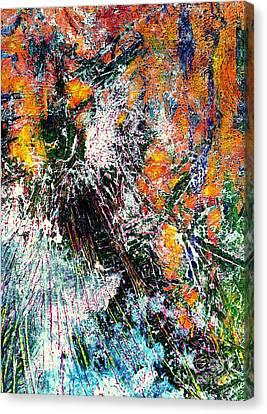 Burst In Orange Canvas Print