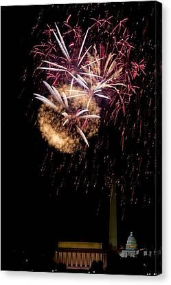 Bursts Over Washington Canvas Print by David Hahn