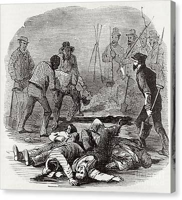 Burying The Dead After John Browns Canvas Print by Photo Researchers