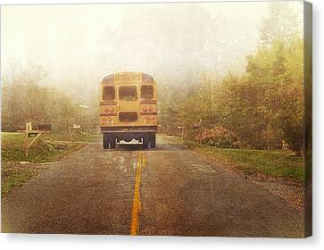 Bus Stop Canvas Print by Kathy Jennings