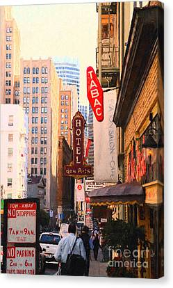 Bush Street In San Francisco Canvas Print by Wingsdomain Art and Photography