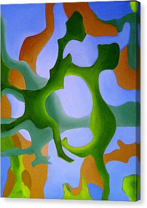 Bush Tango 12 Canvas Print by Giro  Tavitian