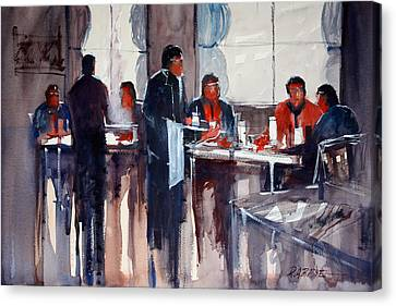 Business Lunch Canvas Print by Ryan Radke