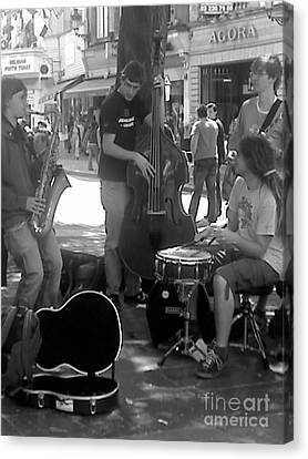 Busking Brussels Canvas Print by Jennifer Sabir