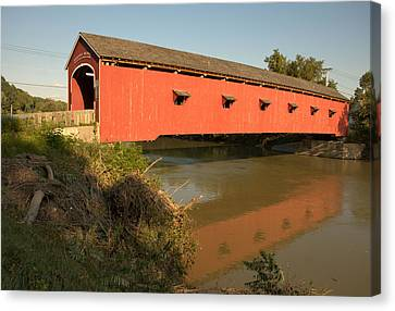 Canvas Print featuring the photograph Buskirk Covered Bridge by Steven Richman