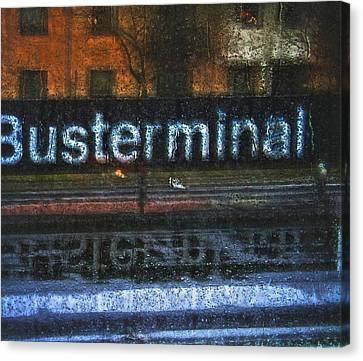Busterminal Canvas Print by Odd Jeppesen