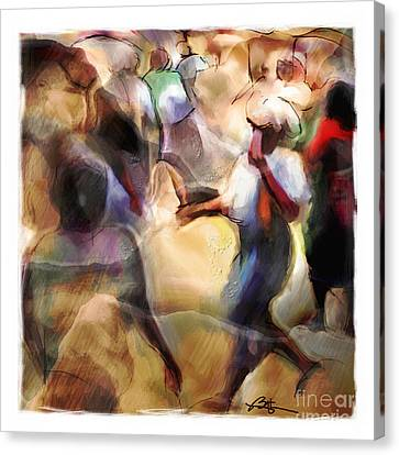 Caribbean Corner Canvas Print - Busy Corner by Bob Salo