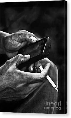Busy Hands Canvas Print by Charuhas Images