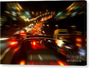 Busy Highway Canvas Print by Carlos Caetano