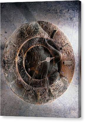 Clock Hands Canvas Print - ...but How About Time by Gun Legler