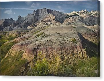Butte Formation In Badlands National Park Canvas Print