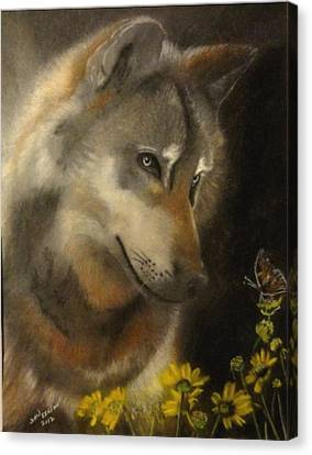 Butter-wolf Canvas Print