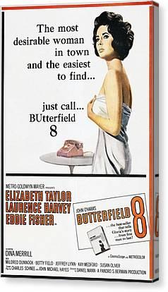Butterfield 8, Elizabeth Taylor, 1960 Canvas Print by Everett