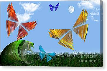 Butterflies Are Free To Fly Canvas Print by Andee Design