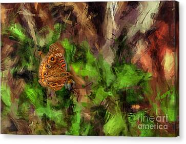 Canvas Print featuring the photograph Butterfly Camouflage by Dan Friend