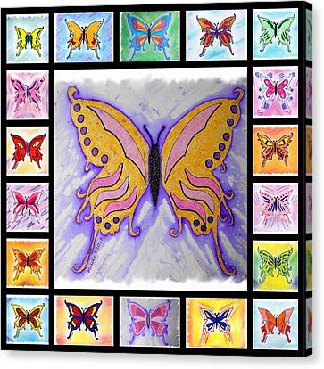 Butterfly Collage Canvas Print by Mark Schutter
