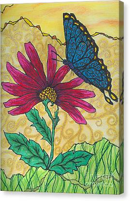 Butterfly Explorations Canvas Print by Denise Hoag