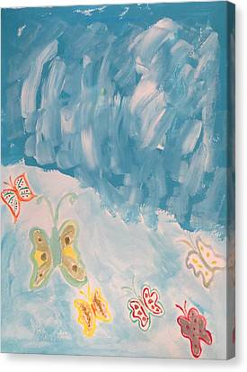 Canvas Print featuring the painting Butterfly Flight by Sonali Gangane
