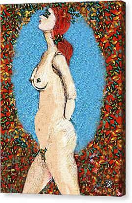 Butterfly Naked Lady Canvas Print by Ion vincent DAnu