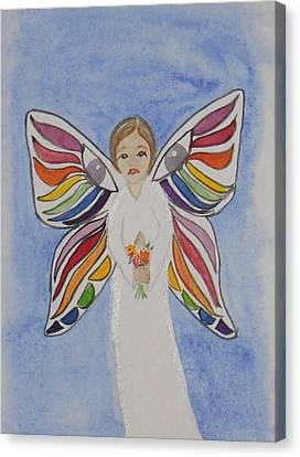 Butterfly People Sympathy Canvas Print by DJ Bates
