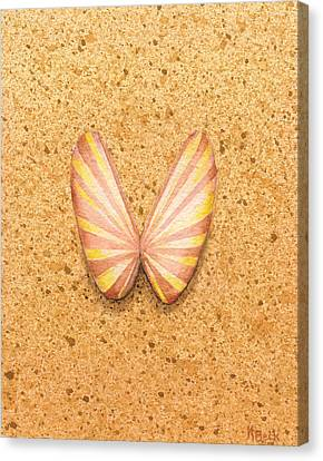 Butterfly Sea Shell Canvas Print
