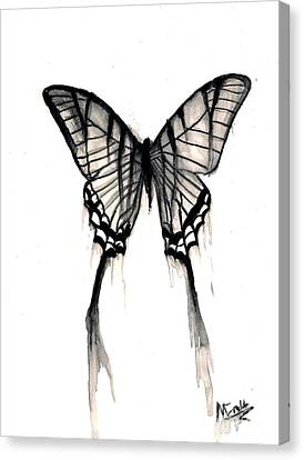 Butterfly Tears 2 Canvas Print by Michael Grubb