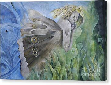 Butterfly Woman Costa Rica Canvas Print by Bob Christopher