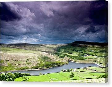 Butterley Reservoir Canvas Print by Andy Leader Www.madeinholmfirth.co.uk