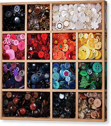 Button Tray Canvas Print by Lisa Stokes