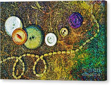 Buttons Canvas Print by Gwyn Newcombe
