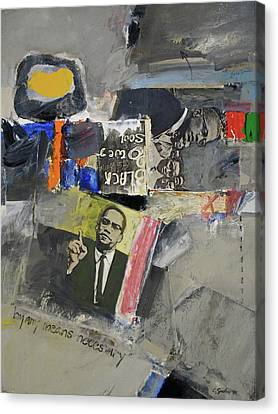Canvas Print featuring the painting By Any Means by Cliff Spohn