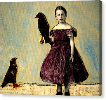 Ephemera Canvas Print - By The Raven's Wing by Heather Murray