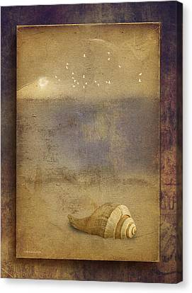 By The Sea Canvas Print by Ron Jones
